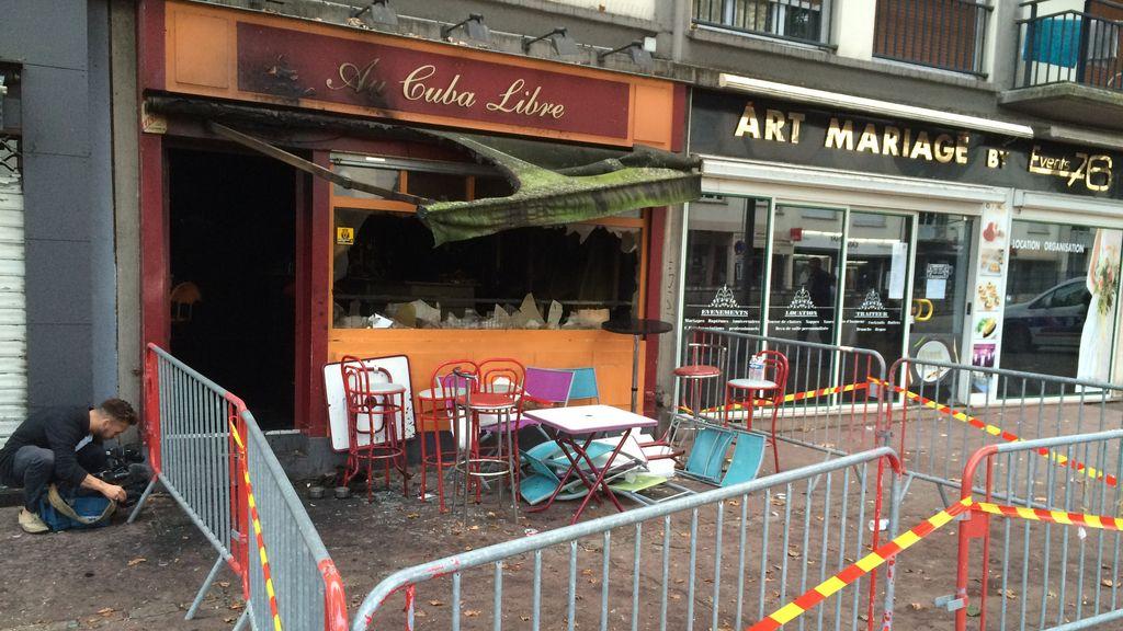 Incendio en un pub de Rouen