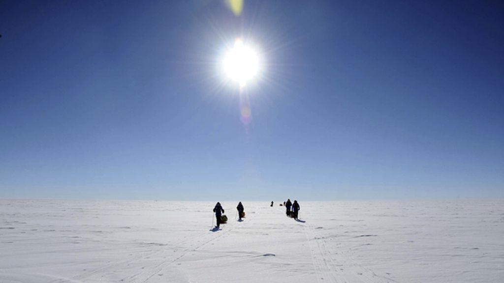 Científicos en el Antártico