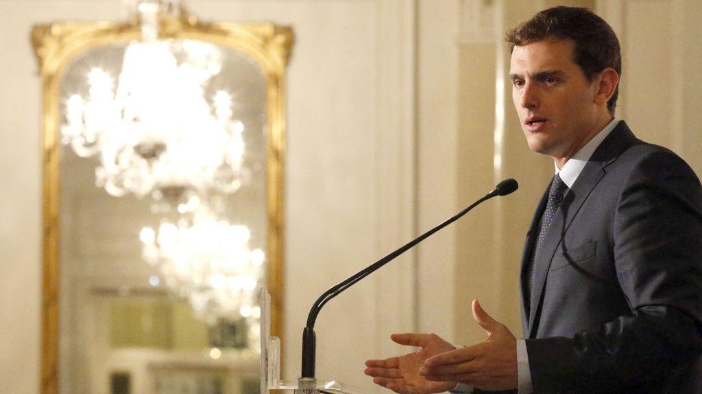 Albert Rivera en los últimos actos de campaña en Euskadi
