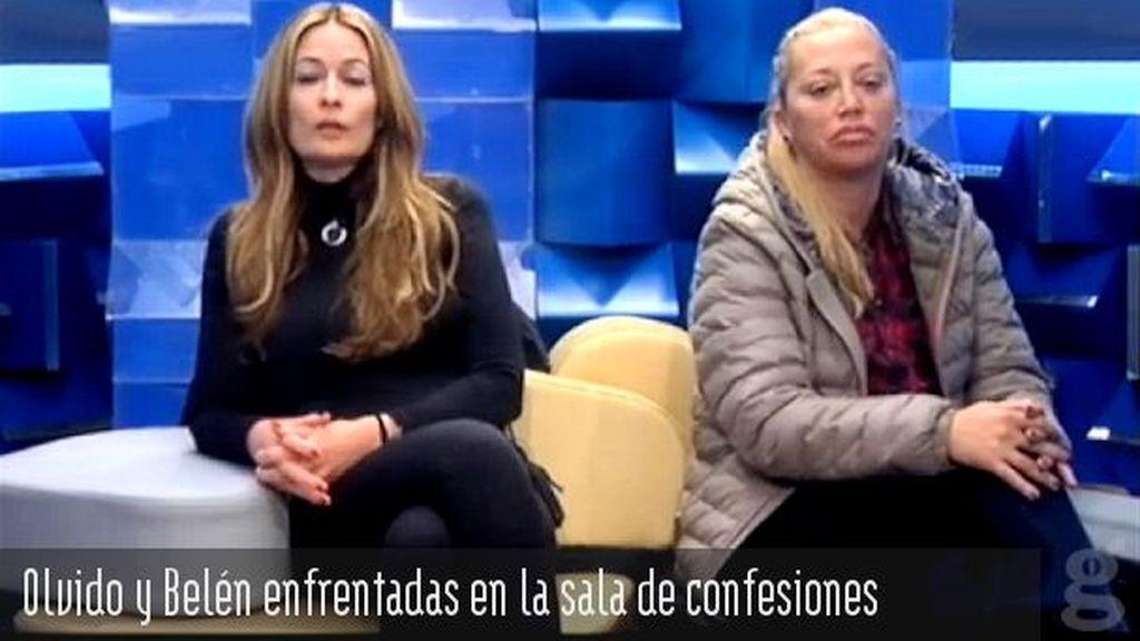 Olvido y Belén enfrentadas en la sala de confesiones