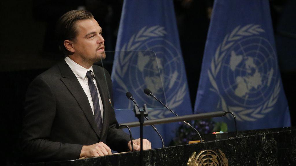 Leonardo DiCaprio clama en la ONU por salvar el planeta