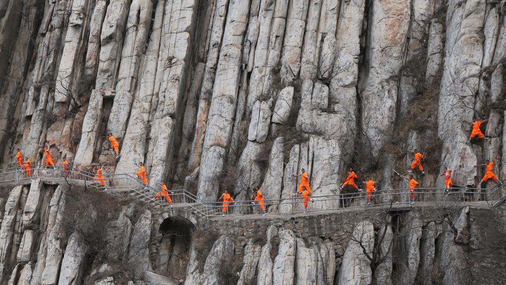 Kung-fu en los montes de Dengfeng