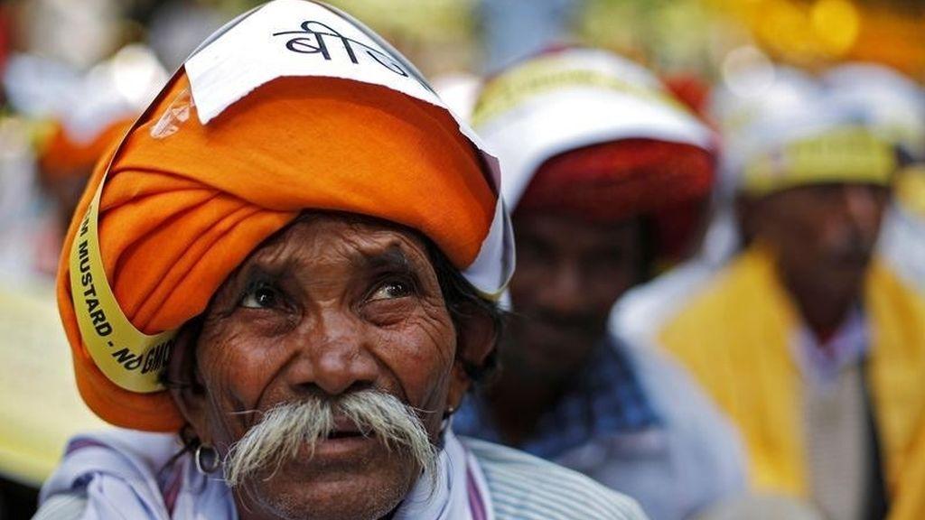 Agricultor en protesta