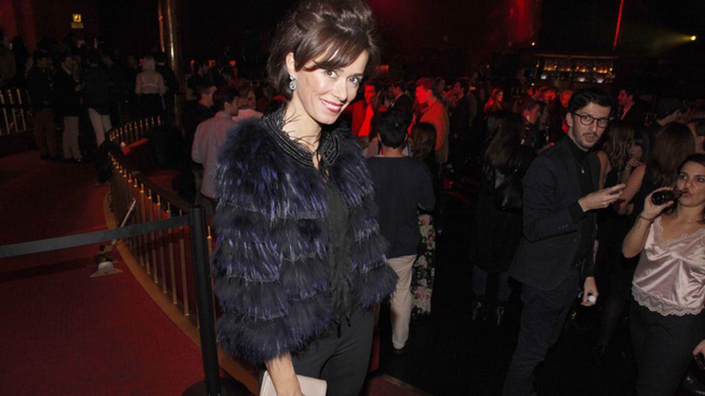 Fanny Gautier a su llegada a la fiesta de Moët & Chandon