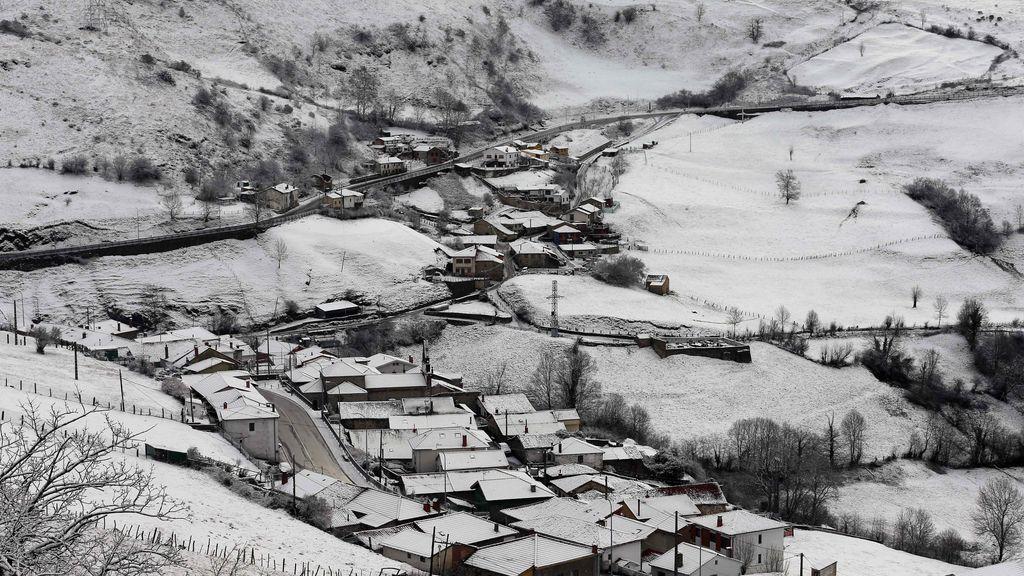 Asturias en alerta amarilla por nevadas en cota alrededor de 700 a 600 metros