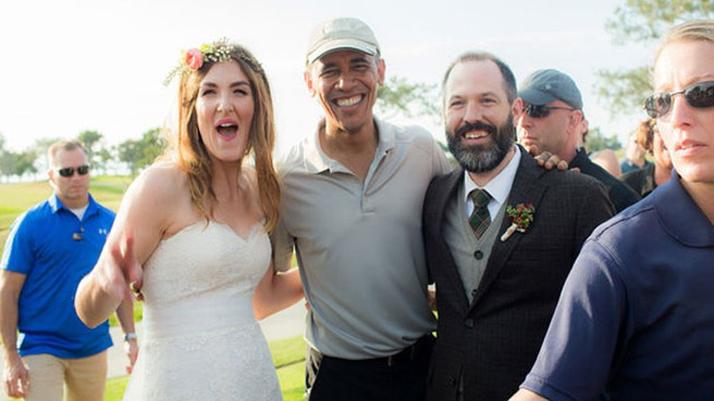 Barack Obama se cuela en una boda por casualidad
