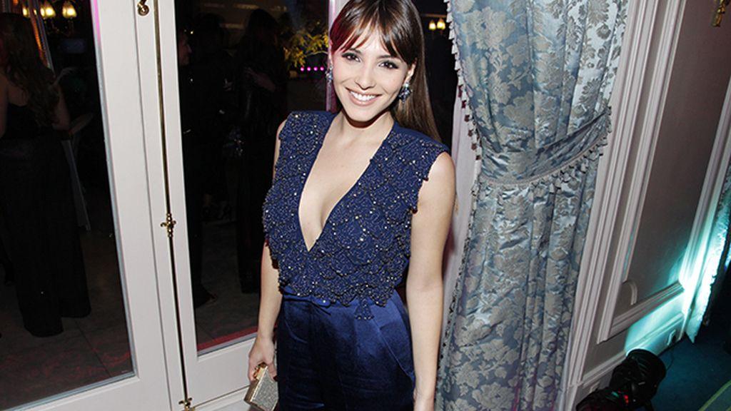 La bellísima Andrea Duro acudió con un vestido de Elisabetta Franchi