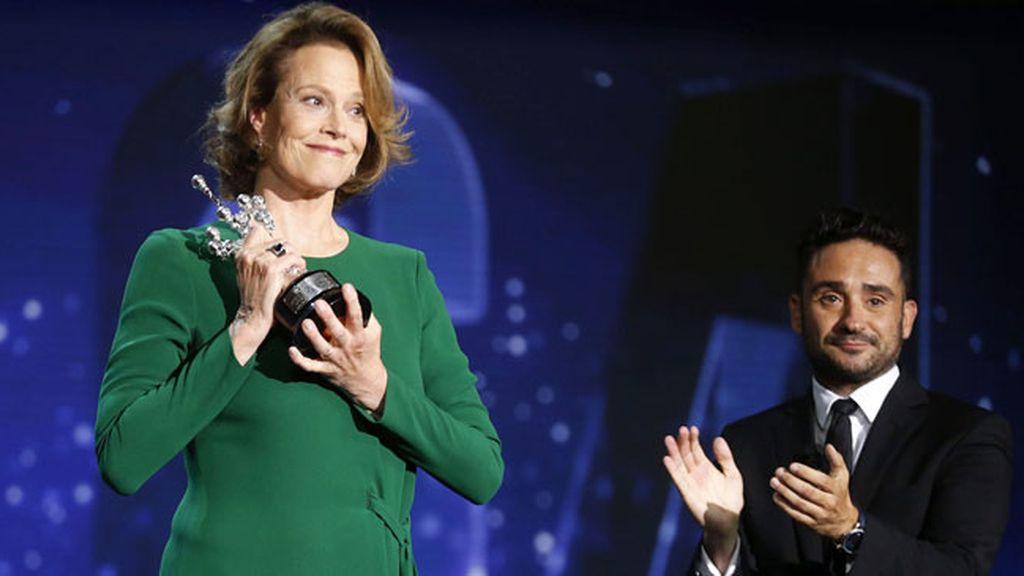 """Sigourney Weaver recibe el Premio Donostia: """"Esta noche soy española"""""""
