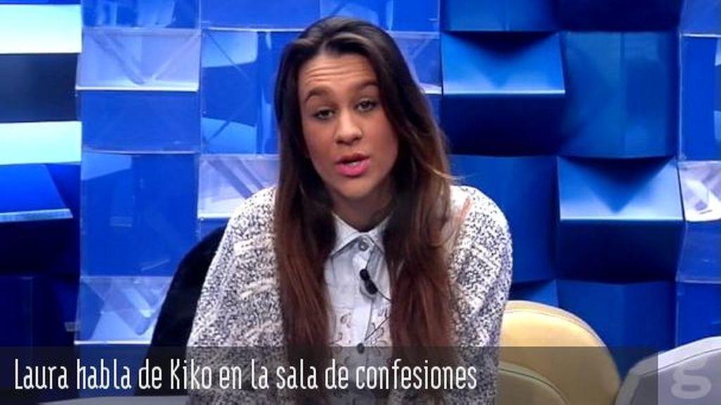 Laura habla de Kiko en la sala de confesiones