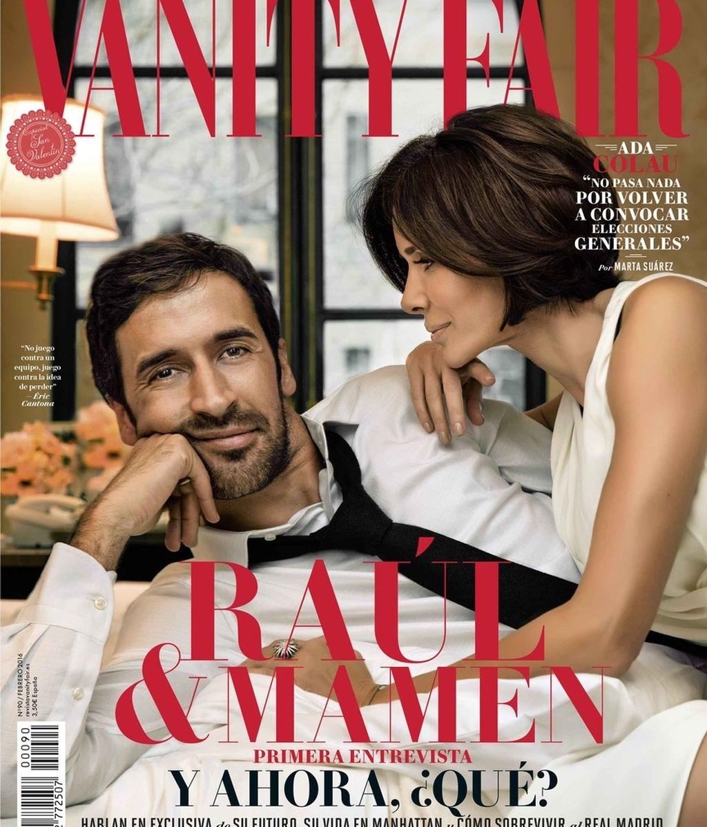 Raúl y su mujer Mamen, portada de Vanity Fair