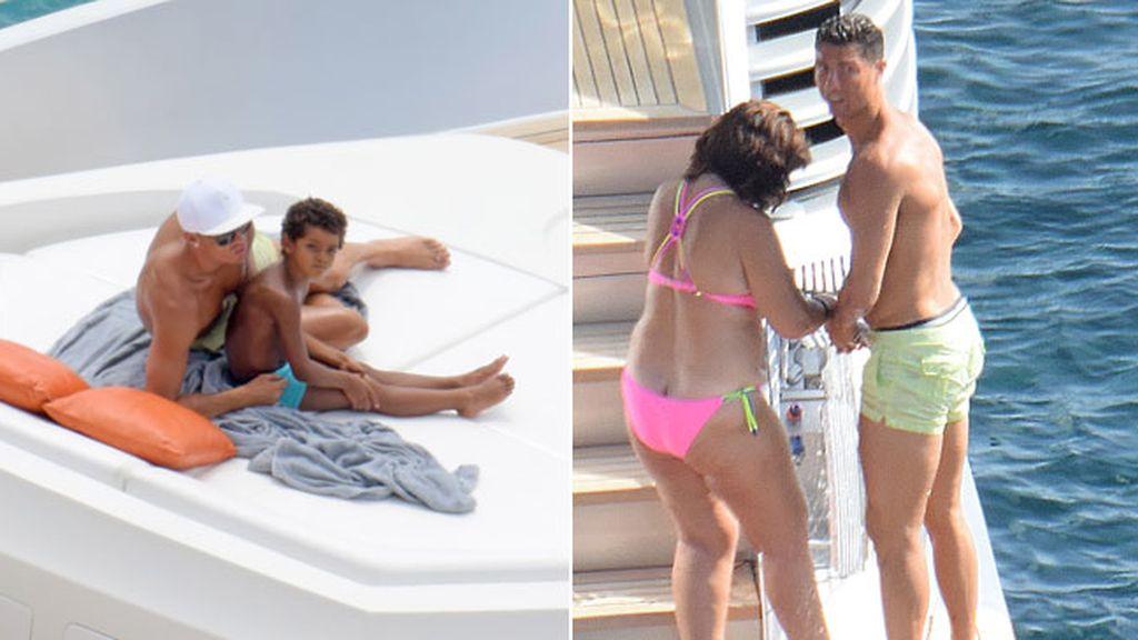 Cristiano Ronaldo en familia