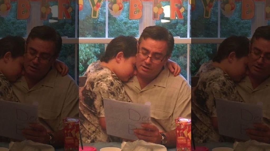 Padre e hijo autista