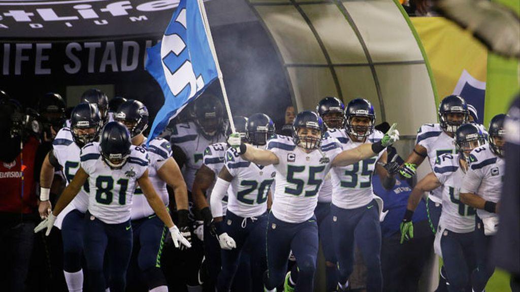Los Seahawks de Seattle celebran su victoria