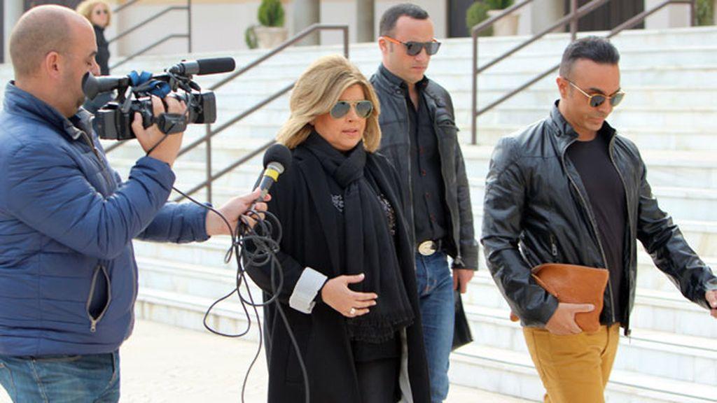 Terelu Campos y Luis Rollán se despiden de la modelo