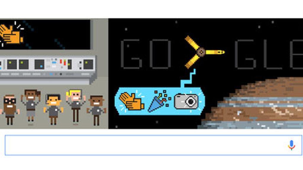Google celebra la llegada de Juno a Júpiter