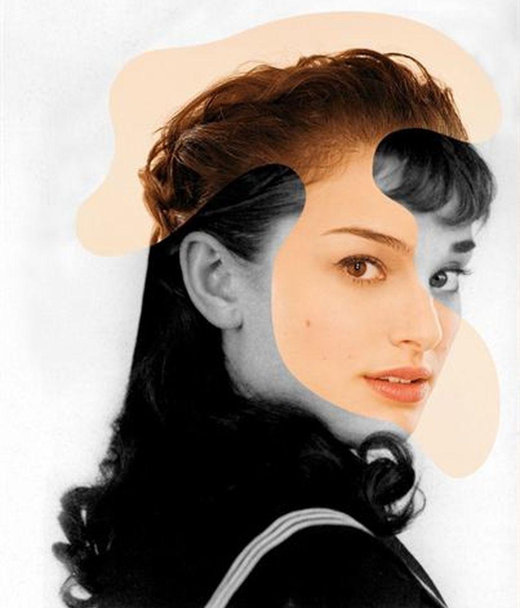 Natalie Portman y Audrey Hepburn
