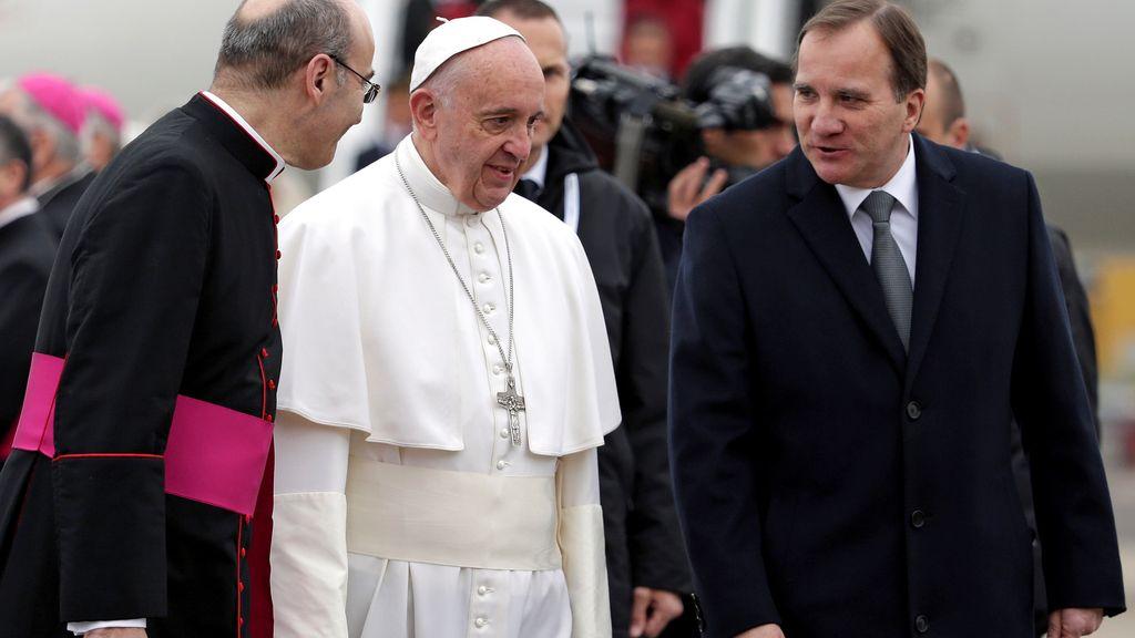 El papa visita Suecia