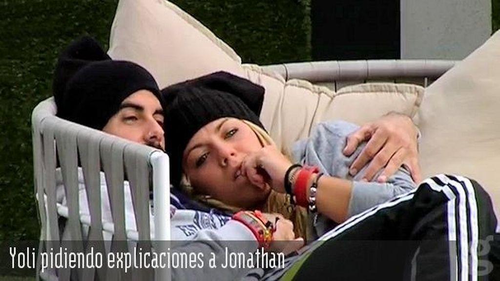 Yoli pidiendo explicaciones a Jonathan