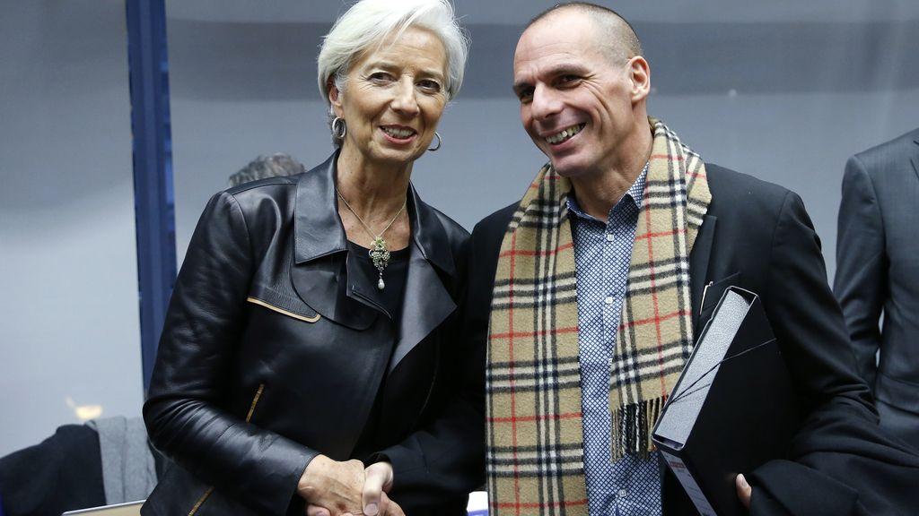 Yanis Varoufakis y Christine Lagarde