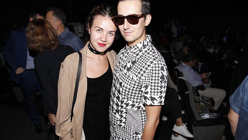 Con la guapísima Andrea Guasch
