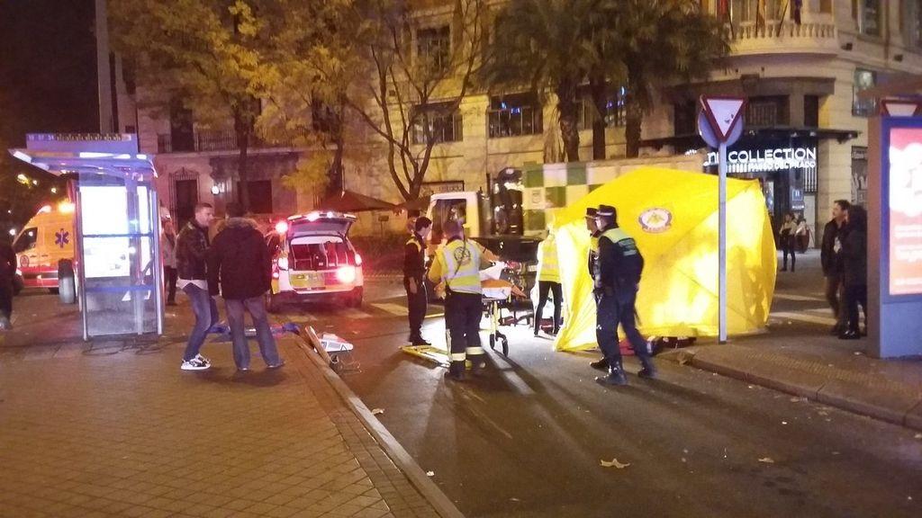 Operativo dispuesto por Emergencia Madrid por el joven atropellado