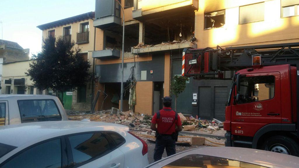 Explosión en una vivienda de Tudela (Navarra)