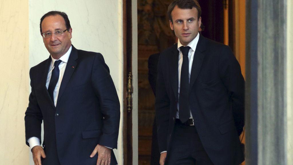 Hollande y el nuevo ministro de Economía francés