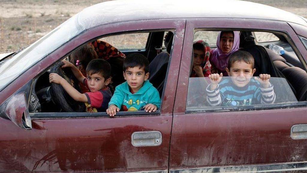 Niños jugando en Irak