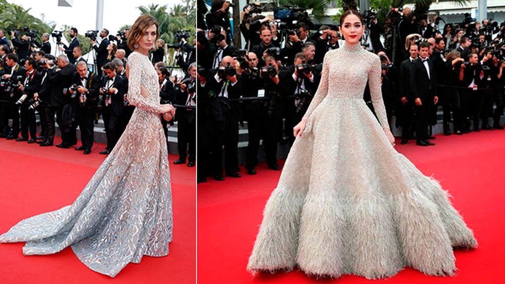 Un extra de Elie Saab: Nieves Álvarez y Araya A. Hargate en Cannes