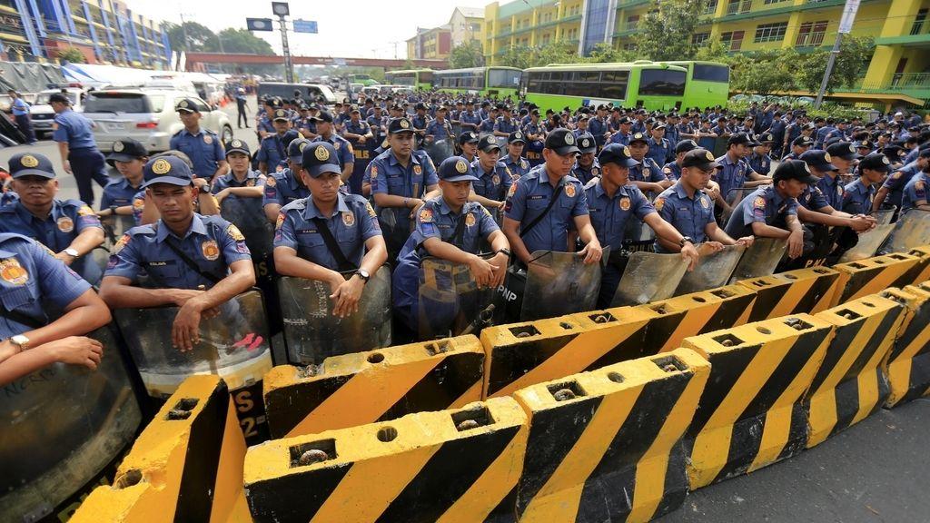 Preparativos para el discurso sobre el estado de la Nación en Filipinas