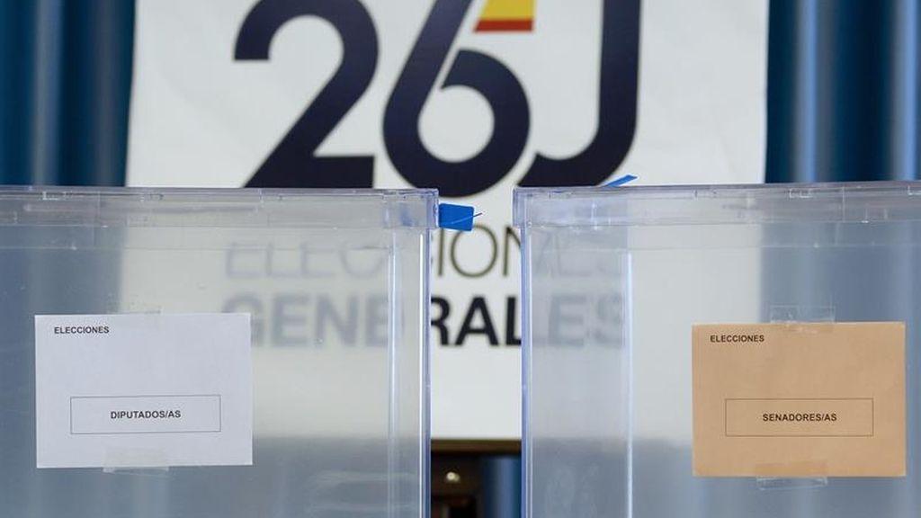 Las urnas para las elecciones del 26J