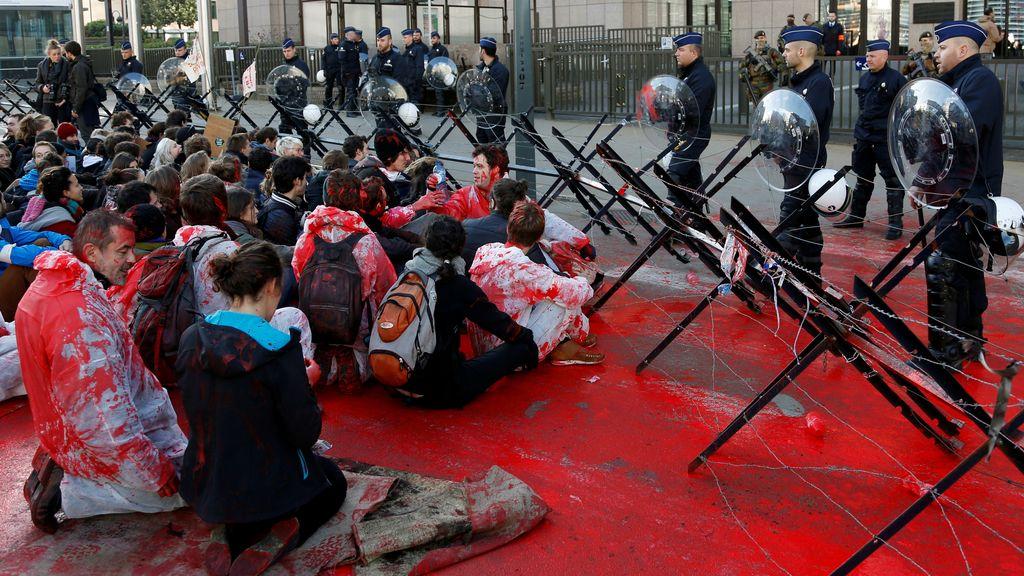 Manifestación contra el CETA en Bruselas