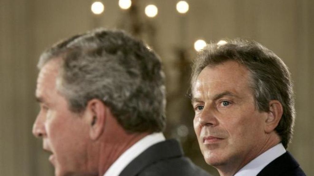 George Bush y Tony Blair