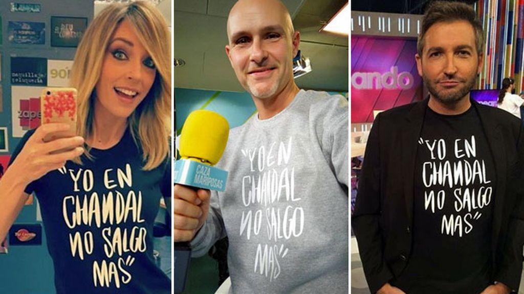 Anna Simon, Enric Bayon y Frank Blanco, cada uno con un modelo distinto