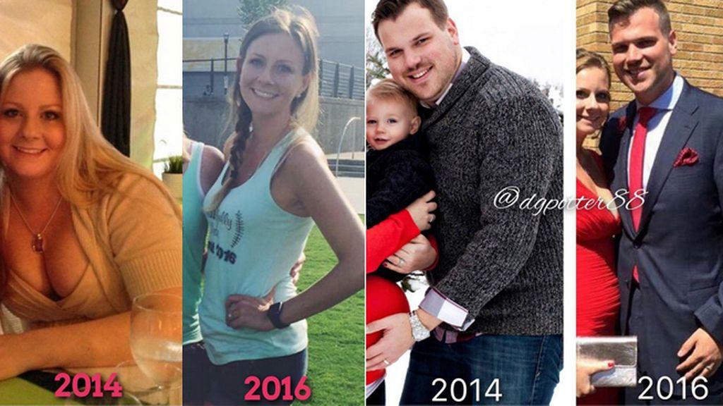 El espectacular cambio de una pareja que abordó unida el adiós a su dieta de 8.000 calorías