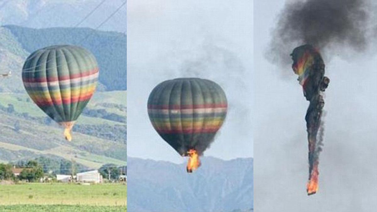 Aparecen las imágenes de un tremendo accidente en globo donde murieron 11 personas