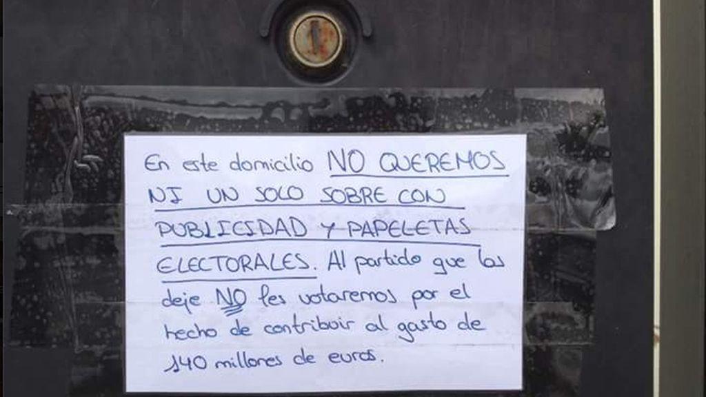 Campaña ciudadana contra el despilfarro en las elecciones