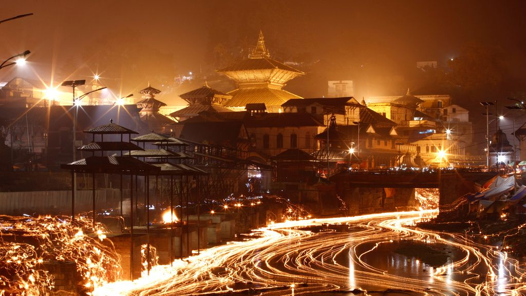 Festival de la luz en Nepal