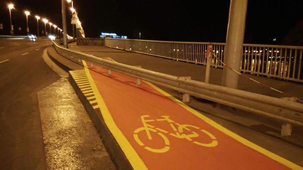 Un carril bici con un final inesperado