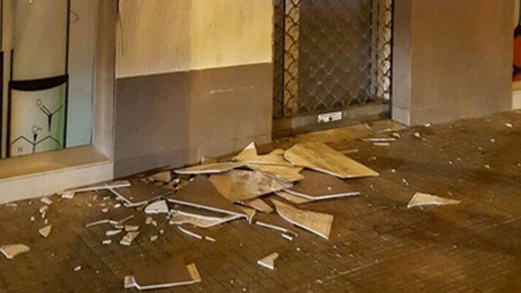 El seísmo ha provocado daños materiales