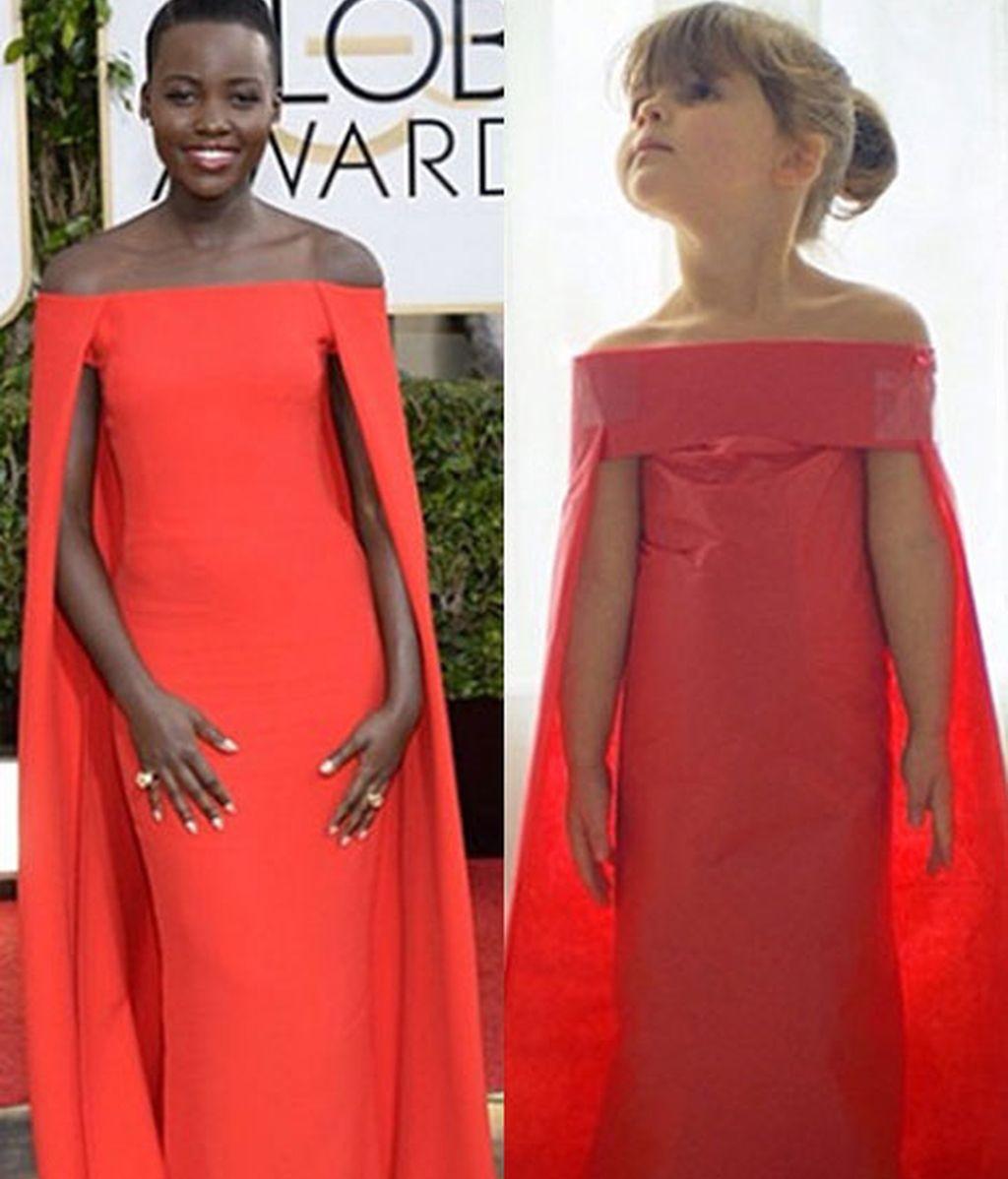 Vestidos de alfombra roja, en papel