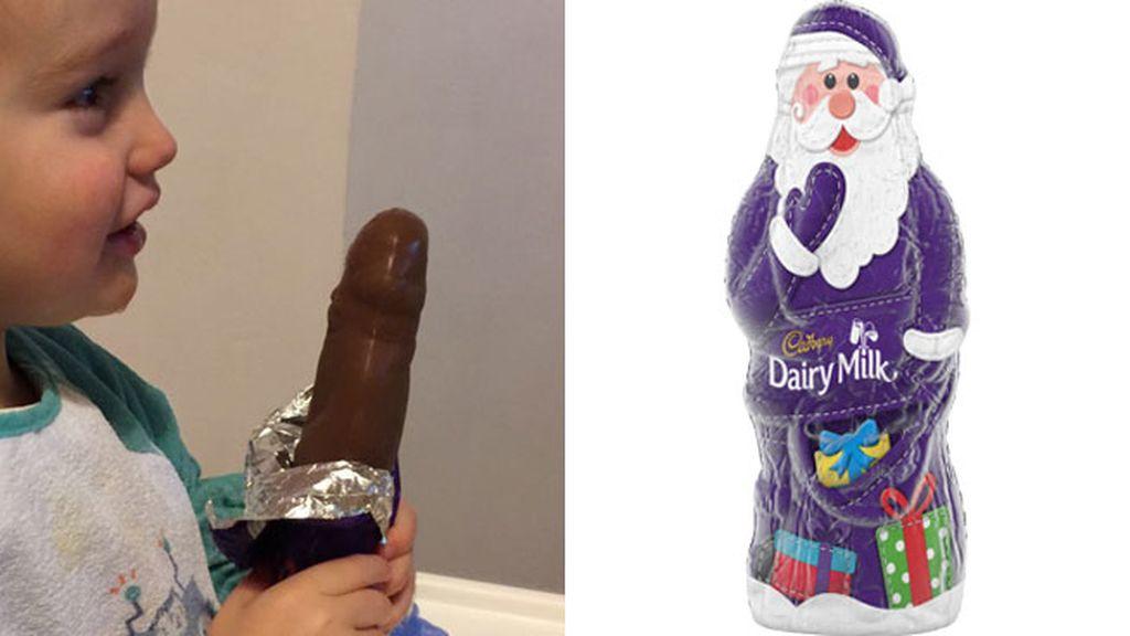 Un padre reclama que las chocolatinas de Santa Claus no son lo que parecen