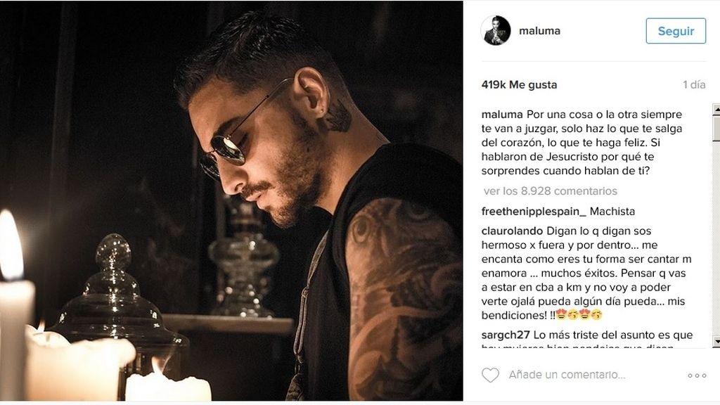 Maluma se defiende de las críticas que lo acusan de misógino y machista