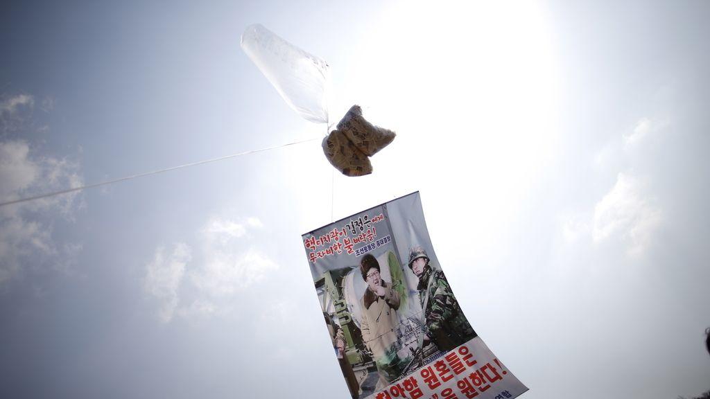 Los globos de los activistas