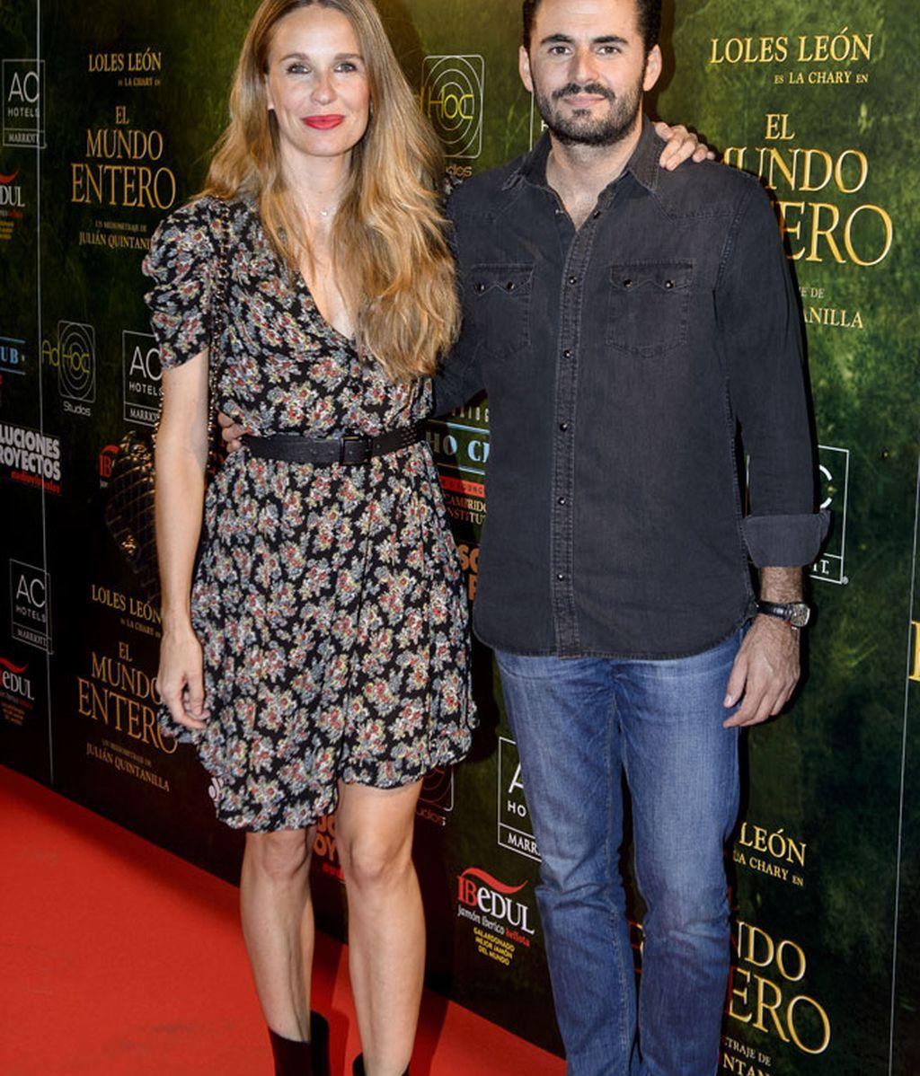 La actriz Carola Baleztena y su marido, Emiliano Suárez