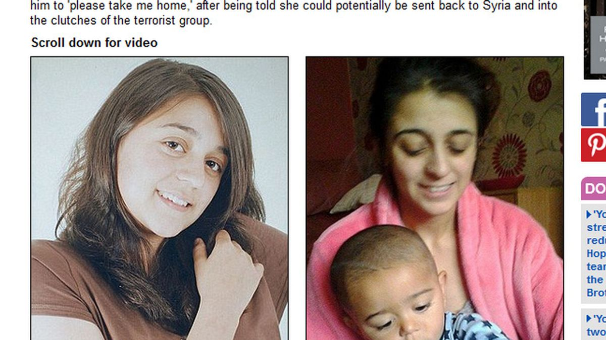 """Una británica captada por el ISIS: """"Papá por favor llévame a casa"""""""
