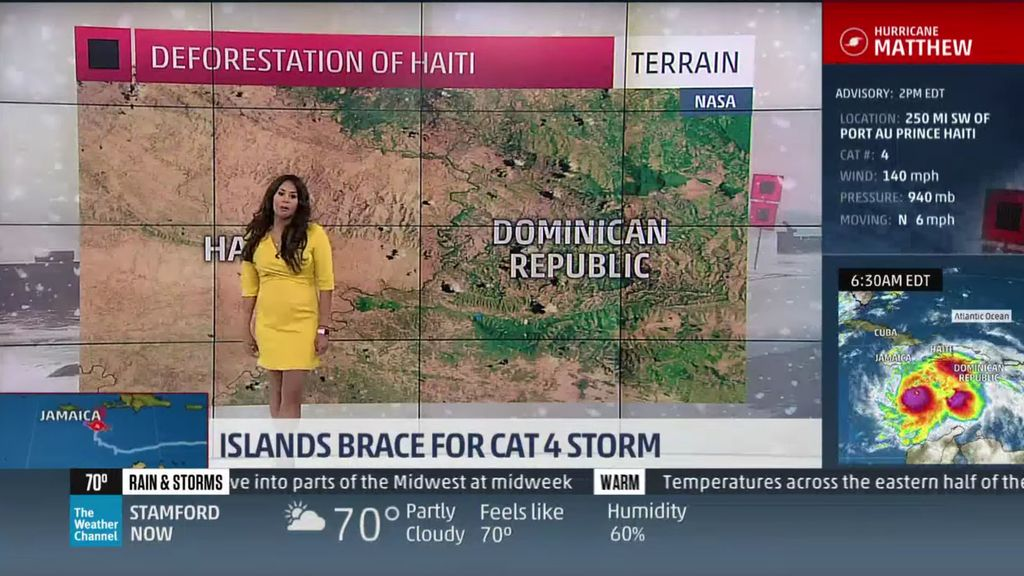 """La presentadora meteorológica que ha afirmado que """"los niños haitianos devoran árboles"""""""
