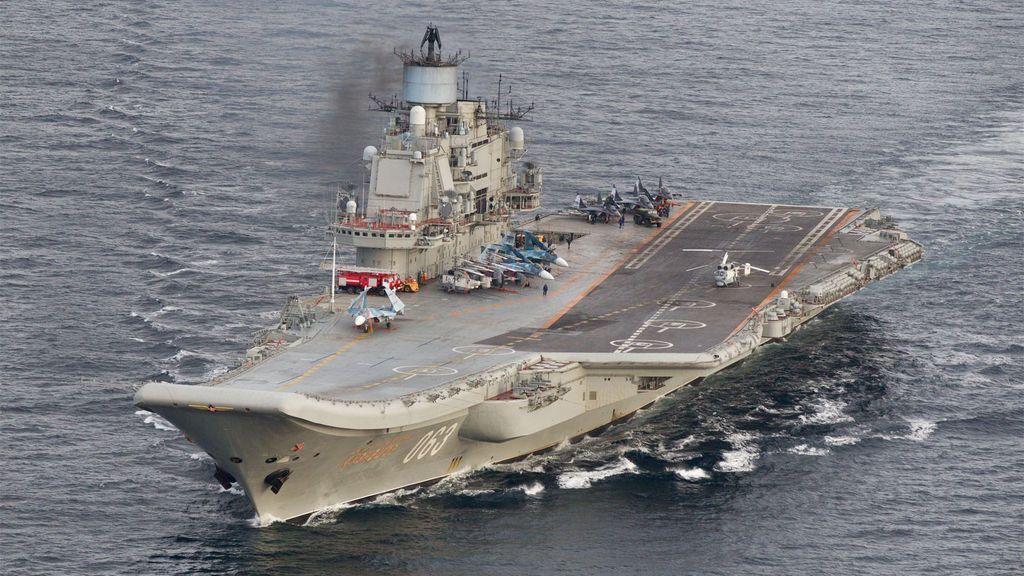 Los portaaviones rusos en el Mediterráneo preocupan a la OTAN
