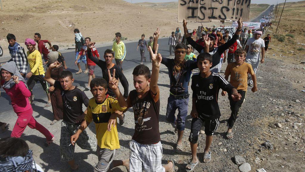 Desplazados yazidíes