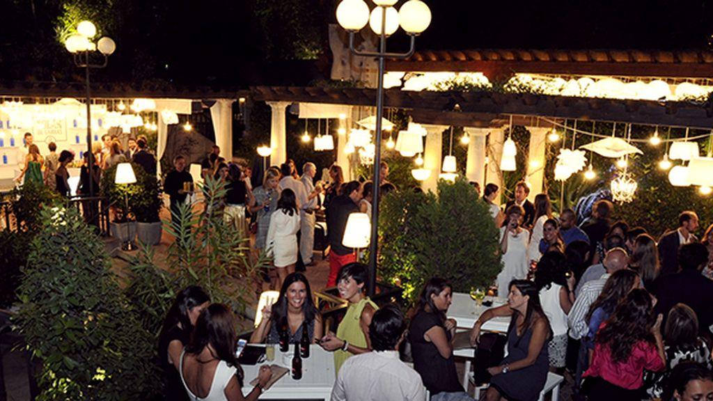 El jardín de Miguel Ángel estaba lleno de gente con ganas de fiesta tras un largo verano